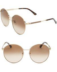 Gucci - 58mm Round Sunglasses - Lyst