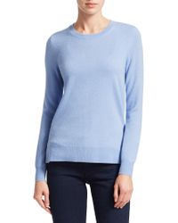 Saks Fifth Avenue - Collection Cashmere Roundneck Jumper - Lyst