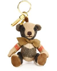 Burberry | Thomas House Check Cashmere Bear Keychain | Lyst