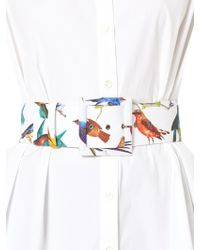Carolina Herrera - Bird-print Buckled Belt - Lyst