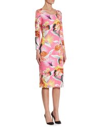 Mary Katrantzou | Pluto Floral-print Dress | Lyst