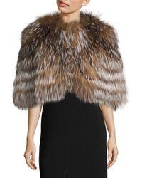 Saks Fifth Avenue - Fox Fur Cape - Lyst