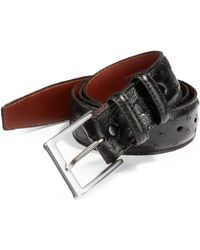 Saks Fifth Avenue - Ostrich Leather Belt - Lyst