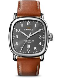 Shinola - The Guardian Leather Strap Watch - Lyst