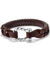 David Yurman - Maritime Woven Leather Bracelet - Lyst