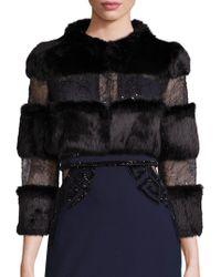 Alberto Makali - Rabbit Fur & Embellished Lace Bolero - Lyst