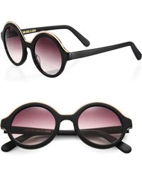 Cutler & Gross - 1200 Pink Panther 48mm Round Sunglasses - Lyst