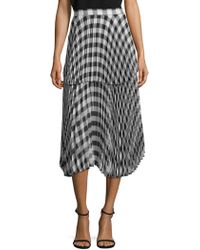Delfi Collective | Reese Pleated Plaid Skirt | Lyst