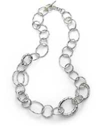 Ippolita - Glamazon Sterling Silver Bastile Element Short Link Chain Necklace - Lyst