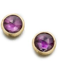 Marco Bicego - Jaipur Amethyst & 18k Yellow Gold Stud Earrings - Lyst