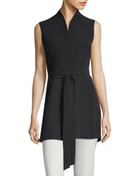 Eileen Fisher - Long Belted Vest - Lyst