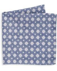 Saks Fifth Avenue | Collection Medallion Houndstooth Pocket Square | Lyst