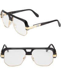 478adfcf11 Lyst - Cazal 9073 002sg Black-gold Aviator Sunglasses in Black