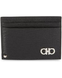 Ferragamo - Textured Card Case - Lyst