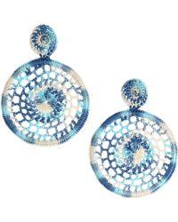 All Things Mochi - Dreamy Crochet Earrings - Blue - Lyst