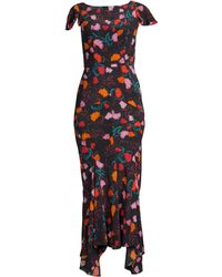 Saloni - Daphne Floral Silk Maxi Dress - Lyst