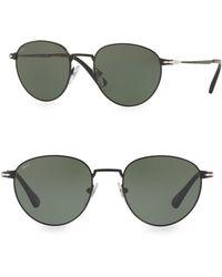 4cdcd7c7eb2fa Persol 55mm Suprema Round Sunglasses in Black for Men - Lyst