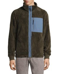 Surfside Supply | Fuzzy Full Zip Mockneck Jacket | Lyst