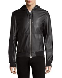 Mackage - Hooded Leather Bomber - Lyst