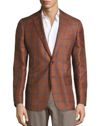 Saks Fifth Avenue - Windowpane Wool & Silk Blend Sportcoat - Lyst