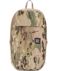 Herschel Supply Co. - Men's Mammoth Sailcloth Medium Backpack - Camel Wood Multi - Lyst