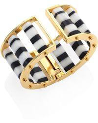 Lele Sadoughi - Striped Column Slider Bracelet - Lyst