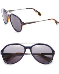 Lanvin - 57mm Aviator Sunglasses - Lyst