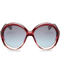 7bdade0e46 Lyst - Dior Sunglasses Oval Bianca Acetate Red Pink in Gray
