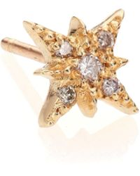 Jacquie Aiche | Diamond & 14k Yellow Gold Starburst Single Stud Earring | Lyst