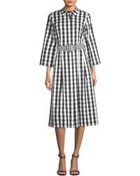 Lafayette 148 New York - Elenie Check Belted Dress - Lyst