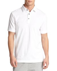 Saks Fifth Avenue | Oxford Performance Polo | Lyst
