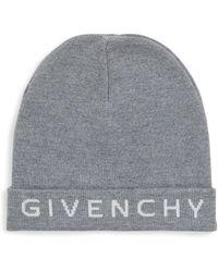 Givenchy - Wool Logo Beanie - Lyst
