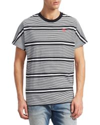 G-Star RAW - Collyde Stripe Cotton T-shirt - Lyst