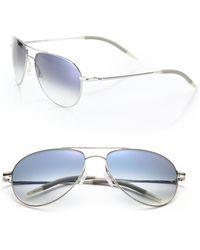 Oliver Peoples - Benedict 59mm Metal Aviator Sunglasses - Lyst