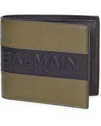 Balmain - Logo Bifold Wallet - Lyst