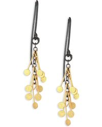 Sia Taylor - Dots 18k Yellow Gold & Sterling Silver Drop Earrings - Lyst