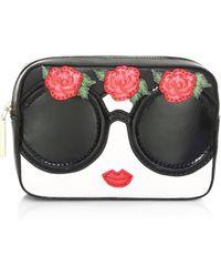 Alice + Olivia - Ava Embellished Face & Flowers Travel Case - Lyst
