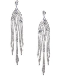 Adriana Orsini | Lush Cascade Pave Earrings | Lyst
