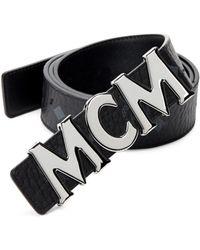 MCM - Letter Leather Belt - Lyst