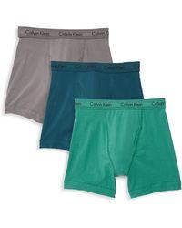 Calvin Klein - Three-pack Stretch Cotton Logo Accented Briefs - Lyst