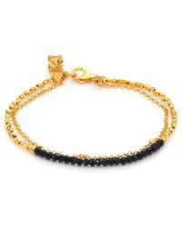 Astley Clarke - Biography Black Spinel Beaded Friendship Bracelet - Lyst