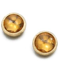 Marco Bicego - Jaipur Citrine & 18k Yellow Gold Stud Earrings - Lyst