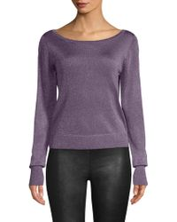 Ramy Brook - Joslyn Sparkle Knit Sweater - Lyst