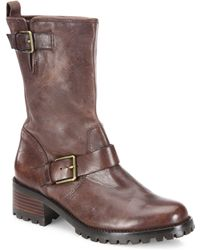 Cole Haan - Hemlock Leather Moto Boots - Lyst