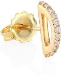 Paige Novick - Cara Diamond & 18k Yellow Gold Single Stud Earring - Lyst