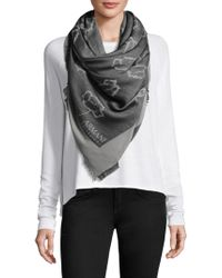 Armani - Floral Woven Scarf - Lyst