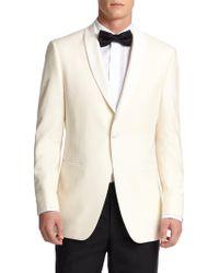 Saks Fifth Avenue - Samuelsohn Classic-fit Shawl-collar Wool Dinner Jacket - Lyst