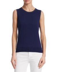Saks Fifth Avenue - Sleeveless Shell Top - Lyst