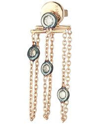 Kismet by Milka - 14k Rose Gold & Champagne Diamond Chain Drop Single Earring - Lyst