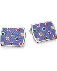 David Donahue - Multicolour Enamel & Sterling Silver Dot Cuff Links - Lyst